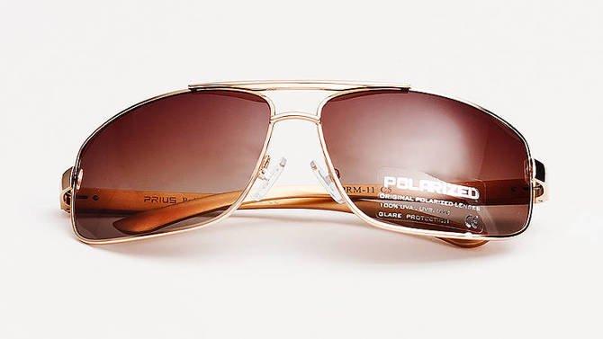 Okulary Polaryzacyjne Aviatory Niskie Brązowy 11C5
