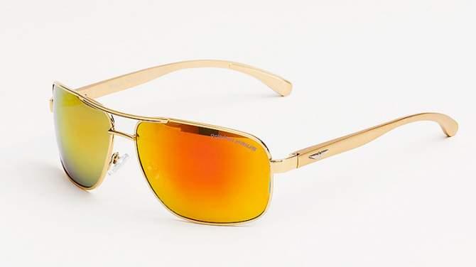 Okulary Polaryzacyjne Aviatory Niskie Złote 5C20
